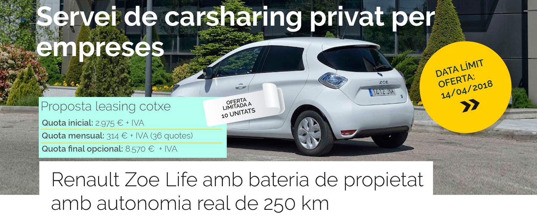 Portada servei de carsharing privat per empreses