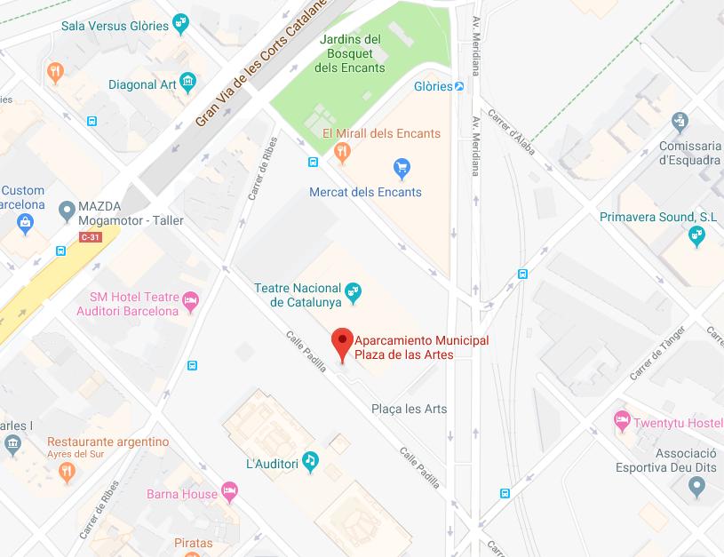 Mapa Plaça de les Arts