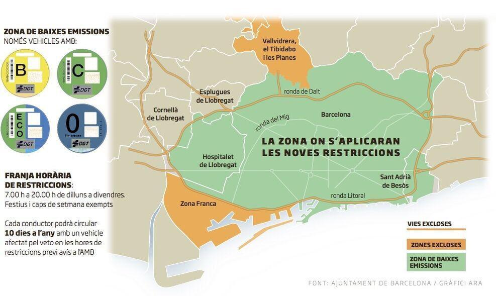 Mapa zones baixes emissions