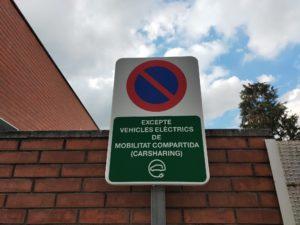 Senyalització excepte vehicle elèctric